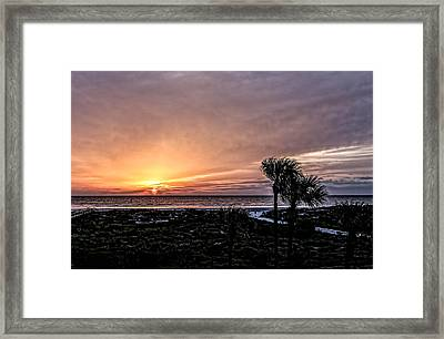 Sunrise In Orange Framed Print by Christina Manassa