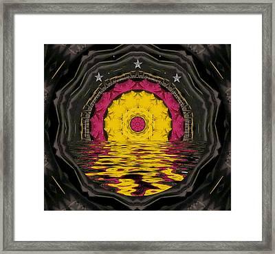 Sunrise In Paradise Pop Art Framed Print