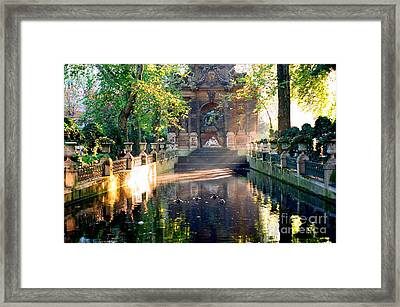 Framed Print featuring the photograph Sunrise In Paris by Kathy Bassett