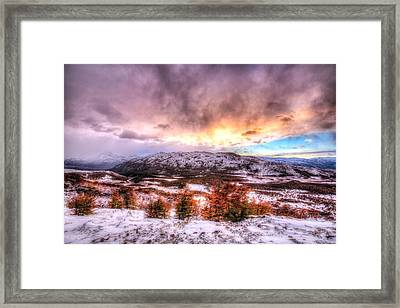 Sunrise In Patagonia Framed Print by Roman St