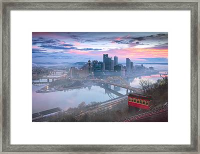 Pittsburgh Fall Day Framed Print by Emmanuel Panagiotakis