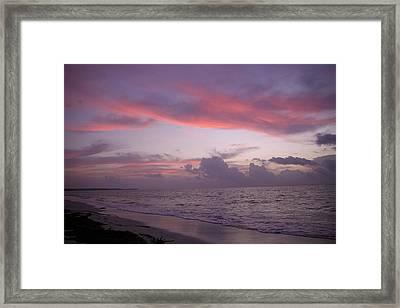 Sunrise In Riviera Maya Framed Print by Dave Dos Santos
