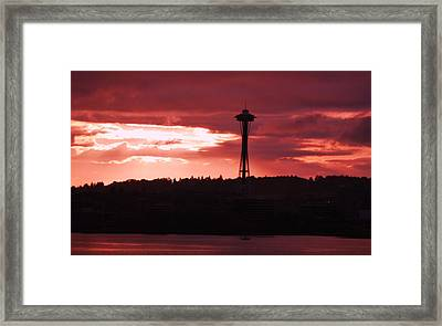 Sunrise In Seattle 1 Framed Print by Marcus Dagan