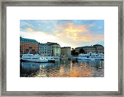 Sunrise In Stockholm Framed Print by Jenny Hudson