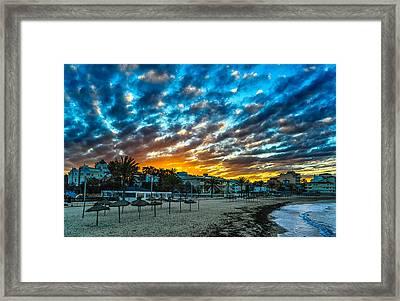 Sunrise In The Beach Framed Print by Maksims Novikovs