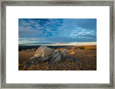 Sunrise In The Bighorn Mountains Framed Print