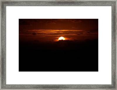 Sunrise In The Clouds Framed Print by Lehua Pekelo-Stearns