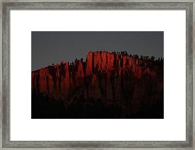 Sunrise In The Desert Framed Print by Menachem Ganon