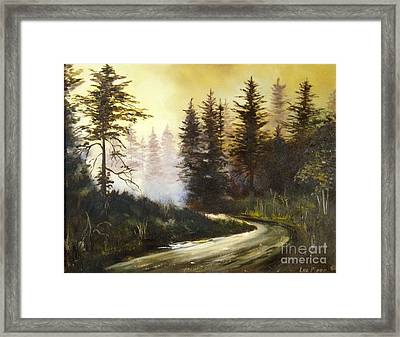 Sunrise In The Forest Framed Print