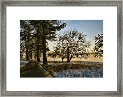 Sunrise In The Park Framed Print by Robert Culver