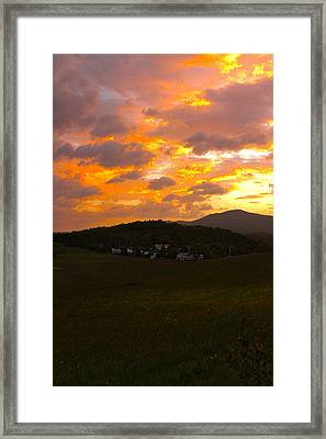 Sunrise In The Smokies Framed Print