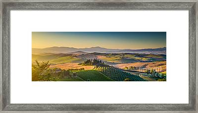 A Golden Morning In Tuscany Framed Print