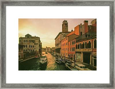 Sunrise In Venice Framed Print