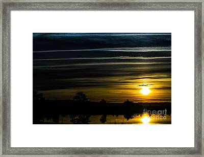 Framed Print featuring the photograph Sunrise In Virginia by Angela DeFrias