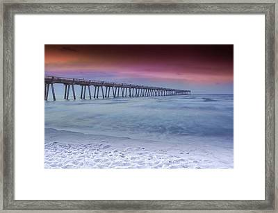 Sunrise In Winter Framed Print