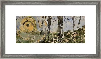Sunrise In Woods Framed Print by Valerie Lynch