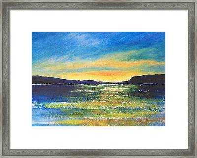 Framed Print featuring the painting Sunrise by Jane  See