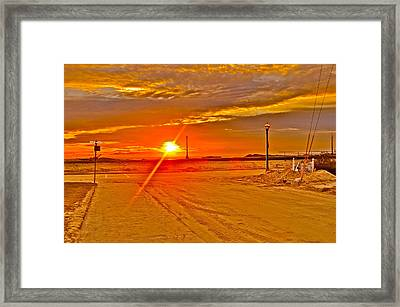 Sunrise Framed Print by Joe  Burns