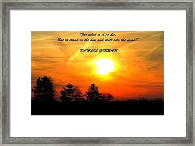 Sunrise Kahlil Gibran Framed Print