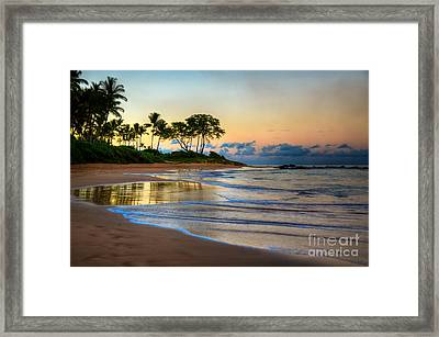 Sunrise Keawakapu Beach Framed Print by Kelly Wade