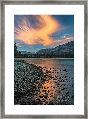 Sunrise Kiva Beach Framed Print by Mitch Shindelbower