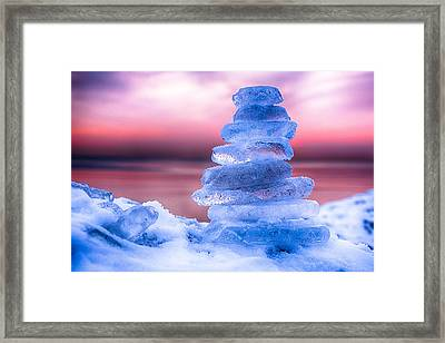 Sunrise Lake Michigan 12-19-13 1 Framed Print