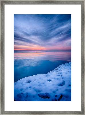 Sunrise Lake Michigan 12-19-13 2 Framed Print