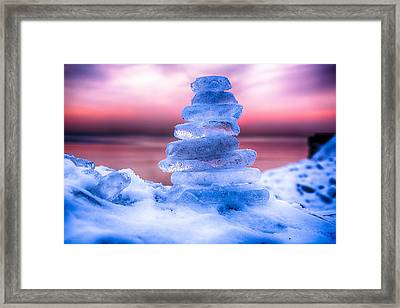 Sunrise Lake Michigan 12-19-13 3 Framed Print