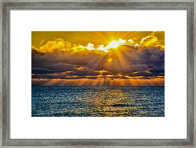 Sunrise Lake Michigan 9-29-13 Framed Print