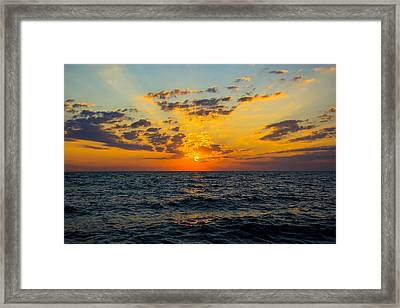 Sunrise Lake Michigan August 10th 2013 001 Framed Print