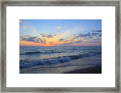 Sunrise Lake Michigan August 10th 2013 004 Framed Print