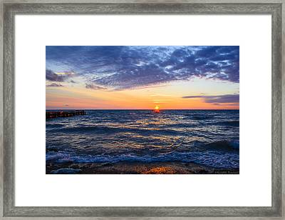 Sunrise Lake Michigan August 8th 2013 001 Framed Print