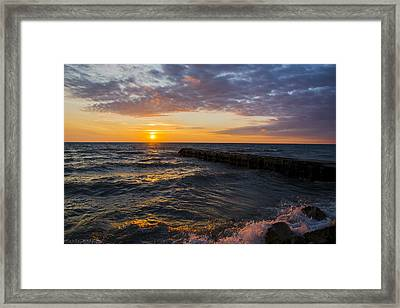Sunrise Lake Michigan August 8th 2013 005 Framed Print
