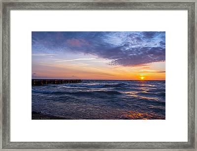 Sunrise Lake Michigan August 8th 2013 007 Framed Print