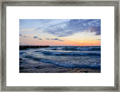 Sunrise Lake Michigan August 8th 2013  Framed Print