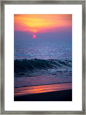 Sunrise Lake Michigan October 5th 001 Framed Print