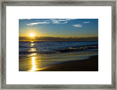 Sunrise Lake Michigan September 14 2013 01 Framed Print