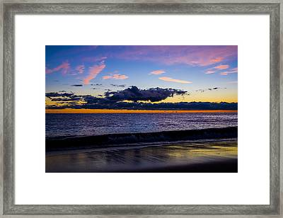 Sunrise Lake Michigan September 14th 2013 002 Framed Print