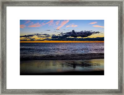 Framed Print featuring the photograph Sunrise Lake Michigan September 14th 2013 003 by Michael  Bennett