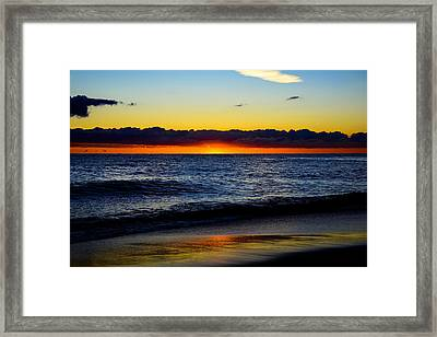 Framed Print featuring the photograph Sunrise Lake Michigan September 14th 2013 008 by Michael  Bennett