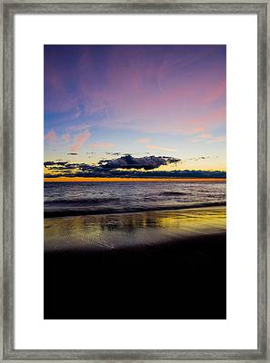 Framed Print featuring the photograph Sunrise Lake Michigan September 14th 2013 010 by Michael  Bennett