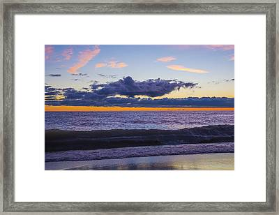 Framed Print featuring the photograph Sunrise Lake Michigan September 14th 2013 011 by Michael  Bennett