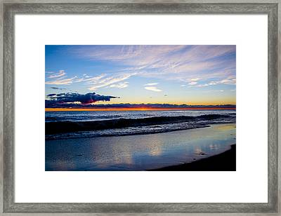 Framed Print featuring the photograph Sunrise Lake Michigan September 14th 2013 013 by Michael  Bennett