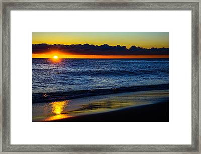 Framed Print featuring the photograph Sunrise Lake Michigan September 14th 2013 015 by Michael  Bennett
