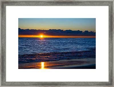 Framed Print featuring the photograph Sunrise Lake Michigan September 14th 2013 016 by Michael  Bennett