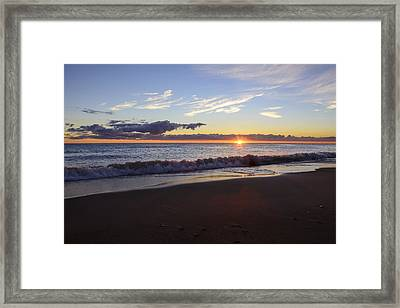 Framed Print featuring the photograph Sunrise Lake Michigan September 14th 2013 018 by Michael  Bennett