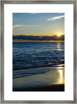 Framed Print featuring the photograph Sunrise Lake Michigan September 14th 2013 024 by Michael  Bennett