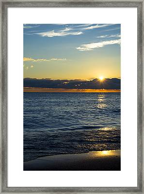 Framed Print featuring the photograph Sunrise Lake Michigan September 14th 2013 025 by Michael  Bennett