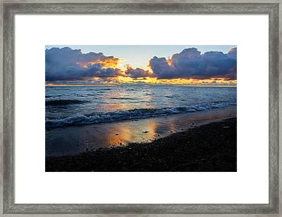 Sunrise Lake Michigan September 2nd 2013 002 Framed Print