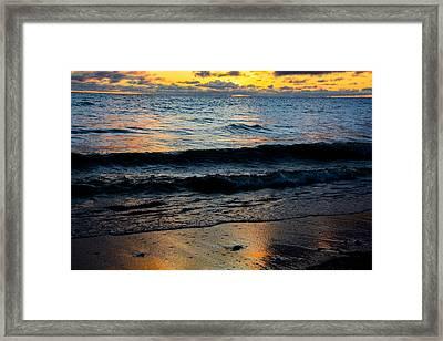 Sunrise Lake Michigan September 2nd 2013 003 Framed Print